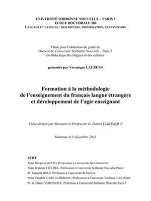 Thèse - méthodologie de l'enseignement du FLE