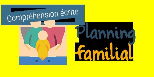 Comprendre un panneau de planning familial